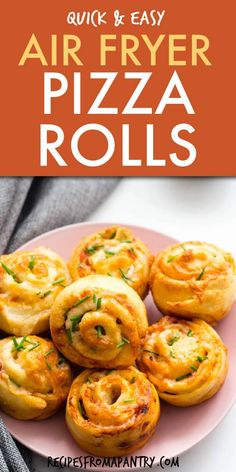 These easy to make air fryer pizza rolls are the perfect way to satisfy those pizza cravings! Serve them up as a kid-friendly snack, as a game day party appetizer, or pair with a salad for a complete meal. Homemade Air fried pizza rolls are healthier than the store-bought or deep-fried versions. Easily customizable to suit your taste. You'll love this recipe for air fryer pizza roll ups! Oven instructions also included. #pizzarolls #airfryerpizzarolls #airfryer #airfryerrecipes #pizza… Easy Potluck Recipes, Air Fryer Dinner Recipes, Air Fryer Recipes, Lunch Recipes, Healthy Dinner Recipes, Appetizer Recipes, Easy Meals, Summer Recipes, Healty Dinner