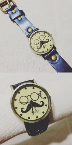 Blue eyeglass and mustache watch for P280.00 / item code: EMVWblue