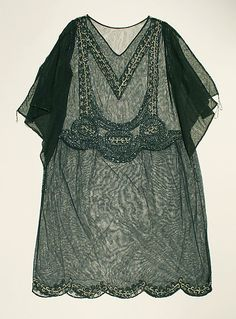 Evening Dress, Natacha Rambova, ca. 1923, American, silk, glass