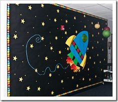 1000 images about murals space on pinterest murals for Outer space classroom decor