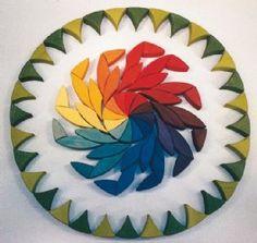 GRIMM'S Circle Flower Wooden Mandala Puzzle (Medium)