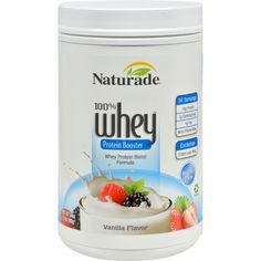Naturade Whey Protein Booster Vanilla Description: Micro-Processed Whey Isolate Hydrolyzed Whey Whey Concentrate Whey Protein Formula -- Protein -- Carbohydrate -- Fat Naturade Whey Vanilla is. Whey Protein Concentrate, Protein Blend, Protein Power, Protein Nutrition, Protein Foods, Hydrolyzed Whey Protein, Complete Protein, Complete Nutrition, 100 Whey