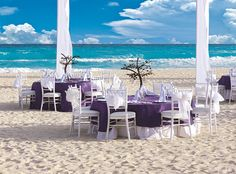 Wedding reception at The Royal in Playa del Carmen. #Beachwedding