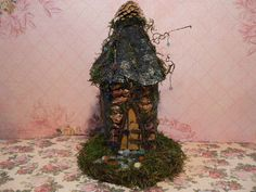 Handmade Fairy or Gnome Forest Home - Enchanting for your Fairy Garden - Made to Order in 1 Week. 75.00, via Etsy.