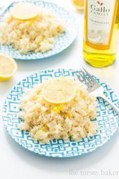 Lemon Risotto | www.themessybakerblog.com #SundaySupper #GalloFamily