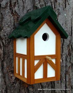 Outdoor wood Painted Bird house/Nesting Box by MyRetirementGig,