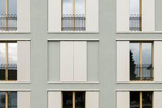 VETTER SCHMID Architekten | Wohnhaus-Kloten Concept Architecture, Facade Architecture, French Balcony, High Rise Building, Facade Design, Interior And Exterior, Outdoor Decor, House, Arquitetura