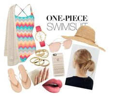 """"""" swimsuit"""" by juliasleao ❤ liked on Polyvore featuring Urban Outfitters, Linda Farrow Luxe, Seafolly, Violeta by Mango, Kate Spade, Kendra Scott, Calypso St. Barth, Yosi Samra, Casetify and onepieceswimsuit"""