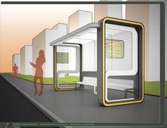 BUS STOP public transport by Roman Vlasiy