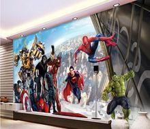 3d wallpaper custom mural non-woven 3d room wallpaper 3 d TV setting wall avengers alliance murals photo wallpaper for walls 3d //Price: $US $16.42 & FREE Shipping //    #marvel
