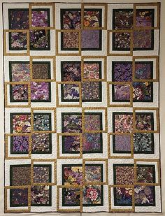 """QM Scrap Squad: """"Deb's Oriental Garden"""" made by Julie Huffman using the Boxing Match quilt pattern from Quiltmaker's Sept/Oct '15 issue."""
