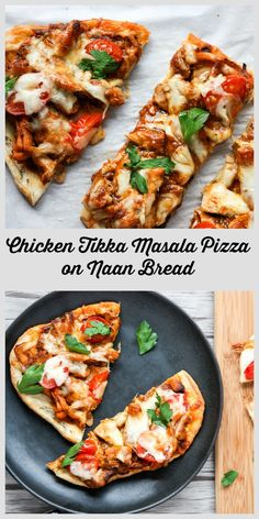Naan Pizza just makes sense topped with Chicken Tikka Masala. Easy and so delicious.