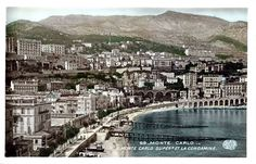 Monaco view form the past... 1969... Before the actual harbour was built... Souvenirs... http://monaco-addict.com