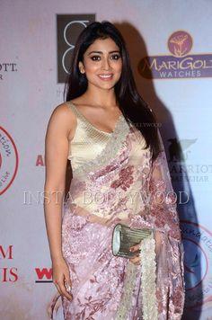 shriya-saran-silk-pink-saree-vikram-phadnis%25286%2529.jpg (1060×1600)