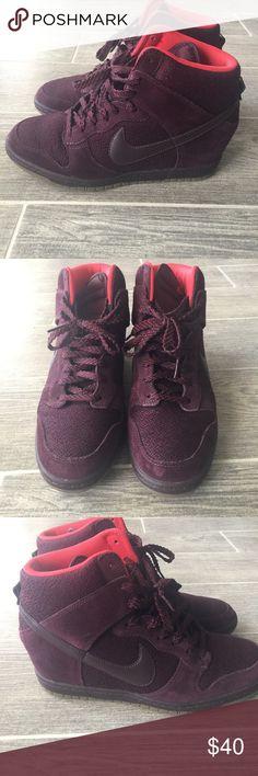 Nike Wedge Sneakers Nike wedge sneakers. Great condition!! Nike Shoes Sneakers