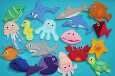 Cute sea creature fishing - quiet book, or maybe Ill make a magnetic game!