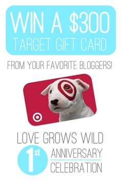 Love to shop at Target? Win a $300 Target Gift Card at the Love Grows Wild Blog Anniversary Celebration! #giveaway