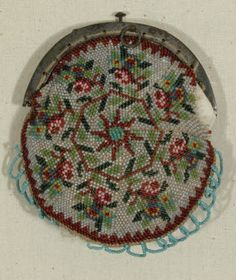 1830-40 circular knit beaded purse on steel frame Snowshill Manor © National Trust / Richard Blakey