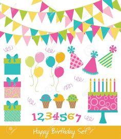 cosas de cumpleaños de colores animados - Buscar con Google