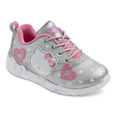 Hello Kitty Toddler Girls' Athletic Sneakers - Silver