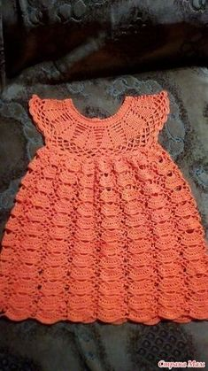toddler dresses – Baby and Toddler Clothing and Accesories Crochet Thread Patterns, Crochet Motif, Crochet Designs, Knit Crochet, Crochet Toddler Dress, Crochet Baby Clothes, Cute Baby Clothes, Knitting For Kids, Hand Knitting