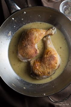 Perfect Seared Chicken Thighs with Pan Sauce. Your new go-to chicken recipe - easy, cheap, and totally gourmet. Painfully good!
