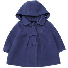 Monsoon Baby Girl Navy Gracie Coat ($15) ❤ liked on Polyvore featuring baby, baby girl, baby clothes, bebe and kids