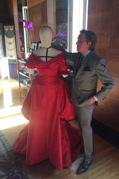 Valentino with Violetta's red dress, laden with symbolism Picture credit: Noona Smith-Petersen