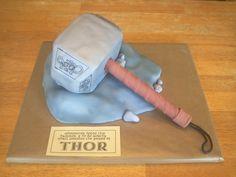 Thor's Hammer Birthday Cake