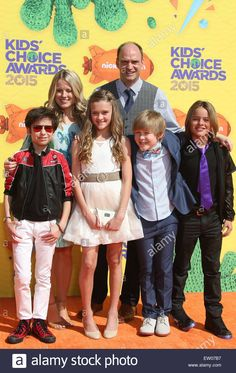 Download this stock image: Nickelodeon's 28th Annual Kids' Choice Awards Featuring: Aidan Gallagher, Allison Munn, Lizzy Greene, Brian Stepanek, Mace Coronel, Casey Simpson Where: Los Angeles, California, United States When: 28 Mar 2015 C - EW07B7 from Alamy's library of millions of high resolution stock photos, illustrations and vectors.