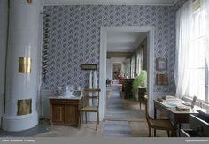 Interiör i Walmstedtska gården, förmaket, kvarteret Karin, Uppsala 1990 @ DigitaltMuseum.se