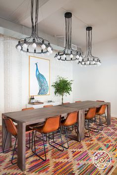 PureWow's Stylish NYC Office - Art by Jenna Snyder Phillips (framed by Framebridge!) adds beautiful touches of colorful visual stimulation to the space. - @Homepolish New York City