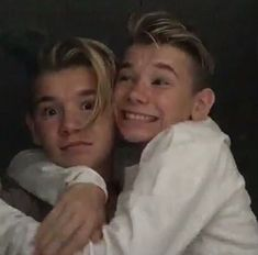 Tinus: Love you my broo .Mac: i don't ( get your hands away from me)