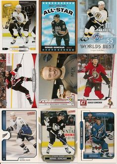 17 DIFFERENT SERGEI GONCHAR HOCKEY CARDS +FREE Shipping!