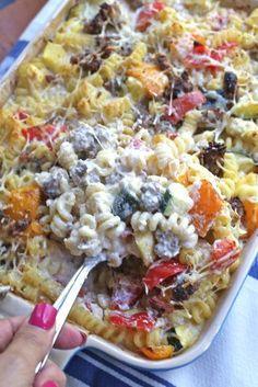 Rainbow Veggie Pasta Bake | FaveSouthernRecipes.com
