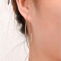 Mới Thời Trang Punk Màu Vàng Đơn Giản Dây Dài Fish Stud Earrings Đối Với Phụ Nữ Tai Dài Bông Tai Trang Sức 8860
