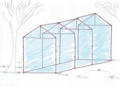 Anleitung für ein Gewächshaus zum selber bauen. #Gewächshaus #DIY #Garten