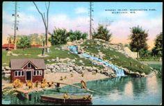 Monkey Island at the Milwaukee County Zoo, 50's - 70's