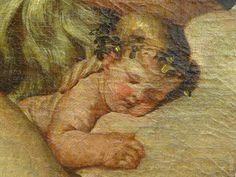 """POUSSIN Nicolas 1624-25 - L'Enfance de Bacchus, La Petite Bacchanale (Louvre) - Detail 17  - TAGS/ details détail détails detalles painting  """"peintures 17e"""" """"17th-century paintings"""" Museum France Paris femme woman """"jeune femme"""" """"young woman"""" man men hommes people boy """"little boy"""" garçon enfant kid kids child children """"naked woman"""" """"femme nue"""" female bare naked nude nue sensuelle animal animals animaux chèvre goat agneau lamb boire boisson drink fête feast repas meal raisin grape fruit Ovide…"""