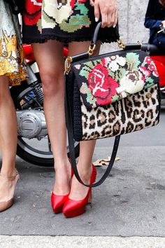 THOSE PUMPS!!!! ...& the bag is lovely too.  Dolce & Gabbana, This would be a great brief case!