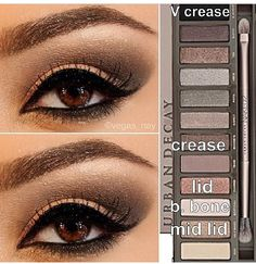 This one is one of my fav looks from naked 2 palette