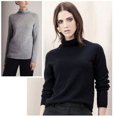 2df039427a42 Johnstons of Elgin Ladies 100% Cashmere High Neck Sweater Style KAI3910 in  BLACK or LIGHT