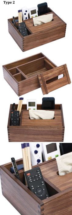 62 Ideas diy wood box home office Diy Wood Box, Diy Wood Wall, Wood Boxes, Wooden Diy, Remote Caddy, Remote Control Holder, Diy Furniture Projects, Wood Furniture, Diy Projects