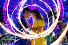 """""""Think of the one thing that you've always wanted. Now find it in your mind's eye and feel it in your heart."""" – Beast Beauty belle and the beast theme engagement session photography photographer florida coca cola orlando eye yellow dress sparklers love just engaged she said yes"""