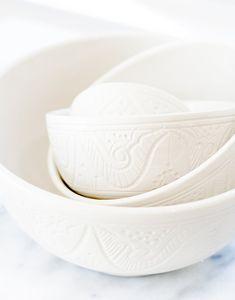 Fair Trade Medium Ceramic Bowl - White | The Little Market #fairtrade #kitchen #dining #artisian #ethicallysourced #shopsmall
