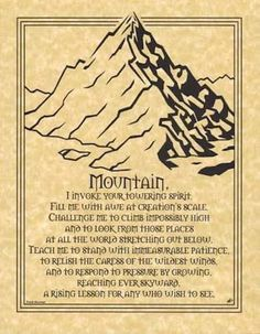 Mountain-Prayer-Parchment-Page-for-Book-of-Shadows-pagan-wicca-witch