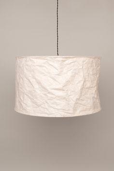Natural Loka Paper Lampshade – Ian Snow Ltd Paper Lampshade, Lampshades, Fabric Structure, Paper Tree, Nursery Inspiration, Interior Styling, Bohemian Style, Macrame, Glow