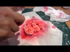 How to paint roses with a spray bottle part 2