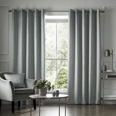 Here is the serene and subtle Elstree ready made curtain design that uses a high quality jacquard technique to create a soft, shimmering and smooth branch texture. The subtle Elstree design has been finished with an eyelet heading and has a rich composition of 100% cotton. Product Includes A pair of curtains in your selected size Care Instructions Dry Clean Only Blue Eyelet Curtains, Ready Made Eyelet Curtains, Wide Curtains, Interior Room Decoration, Room Interior, Interior Decorating, Home Decor, Barndominium, Shared Rooms