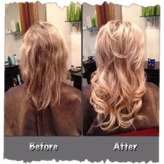 Before after hotheads hair extensions model aubrie losch hotheads hair extensions trouble salon in denver pmusecretfo Image collections